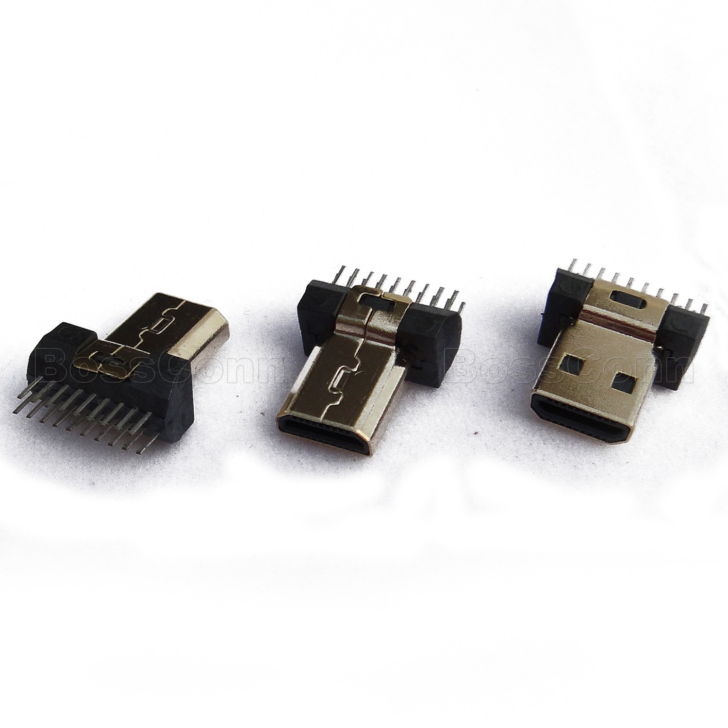 HDMI D Type, Male, Clamp Board Type