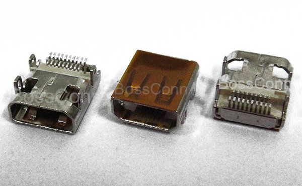 Micro HDMI Female Connector, All DIP For Outershell