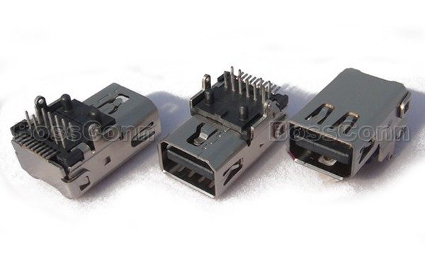 Mini DisplayPort Female Connector, SMT and DIP