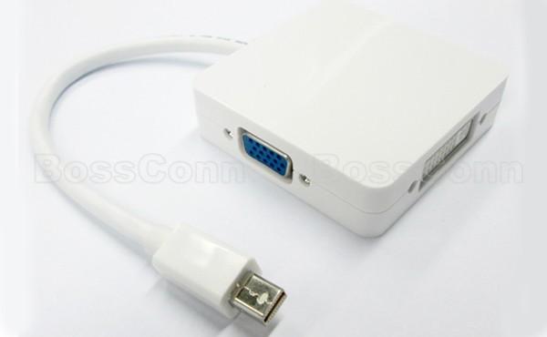 Mini DisplayPort to HDMi+DVI+VGA Adapter
