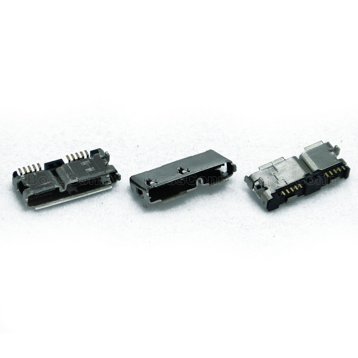 USB 3.0 Micro AB Female Connector, DIP For Outer Shell
