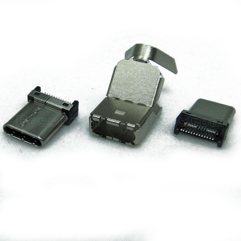 USB 3.1 Type C Male, 3 Kits