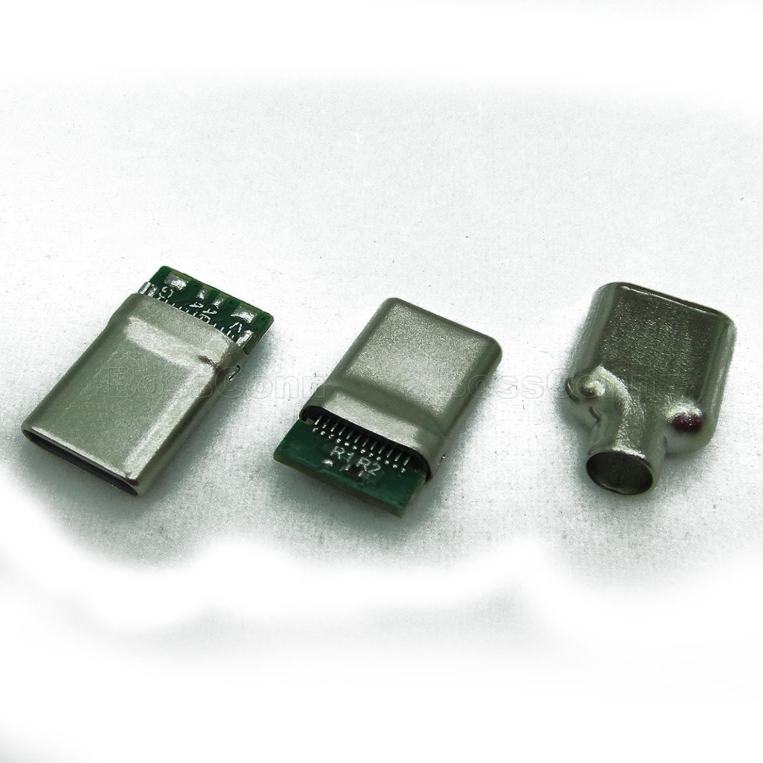 USB Type C Male Connector, For USB 2.0 A Type Cable Assembly