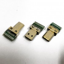 Micro HDMI Male Connector, With PCB