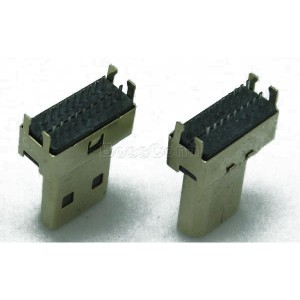 HDMI D Type Connector, Male, Clamp Board or DIP Type